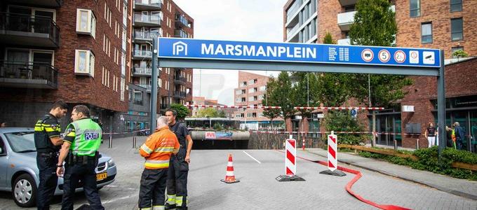 Gaslek in parkeergarage in Haarlem
